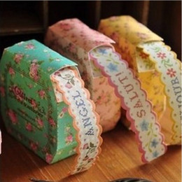 Wholesale Paper Lace Roll - Wholesale- 1 Roll Vintage Retro Lace Paper Sticker Tape For Wedding Party Decoration Birthday Party Favors Kids Gift Free Shipping 1220