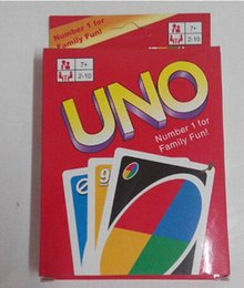 Wholesale Play Entertainment - Entertainment Card Games UNO cards Fun Poker Playing Cards Family Funny Board Games Standard DHL Free Shipping
