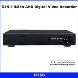 Wholesale Mobile Dvr Systems - 4 8CH CCTV 1080N Hybrid AHD 5-in-1 DVR (1080P NVR+1080N AHD+960H Analog+TVI+CVI) Real-Time home Security system HDMI VGA P2P Mobile control