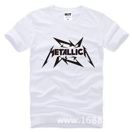 Wholesale Metallica Band - Wholesale- Metallica hard metal rock band Men's T-Shirt T Shirt For Men 2015 New Short Sleeve Cotton Casual Top Tee Camisetas Masculina