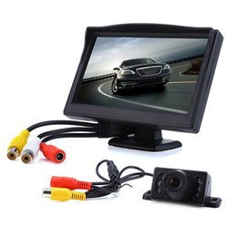Wholesale Car Backup Camera Monitor System - 5 Inch TFT-LCD Car Rear View Rearview Monitor Car LCD Monitor With Backup Rear Park Camera Car Reverse Parking System