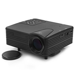 Wholesale Hdmi Design - Wholesale-LZ - H80 80 Lumens 480 x 320 Pixels Mini LED Frosted Projector Support HDMI AV VGA SD Card Input Dust Free Design Projector
