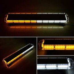 "Wholesale Truck Beacon Strobe Lights - Amber White 47"" 88 LED Light Bar Emergency Beacon Warn Tow Truck Response Strobe warning light Free Shipping"