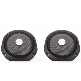 Wholesale Mesh Grilles Wholesale - Wholesale- 2Pcs 4Inch Speaker Cover Subwoofer Audio Protection Speakers Protective Net Tweeter Grille Waffle Mesk Grills Speaker Iron Mesh