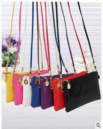 Wholesale Wholesale Small Silver Crosses - 2017 new style Women handbag Purses Bag Zipper and Hasp Clutch Bags Casual Multi-color Shoulder handbag Cross Toes wallets