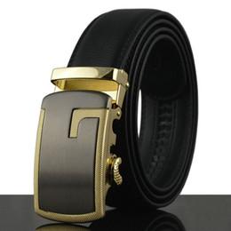 Wholesale Mens Logo Belts - Brand New Automatic buckle Genuine Leather mens belt luxury belts for men big buckle with logo business belt men waistband Jeans belt