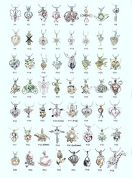 Wholesale Halloween Gems - 18kgp Fashion love wish pearl  gem beads locket cages, lovely DIY charm pendant mountings wholesale 100pcs lot (can mix different styles)