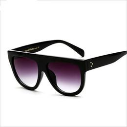 Wholesale Flat Top Retro Sunglasses - New Fashion round Sunglasses Women Retro Brand Designer Sun Glasses for Women Flat Top Oversized Sunglasses UV400 Oculo