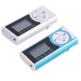 Wholesale Digital Voice Recorder Sd - Wholesale- mp3 player lcd screen clip speler mp3 music players with sd card aux muziek digital lettore mp-3 lecteur baladeur led hifi