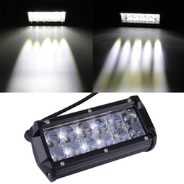 Wholesale Motorcycle Led Headlight Kits - Motorcycle car modified headlights dual 36W CREE Strip lamp