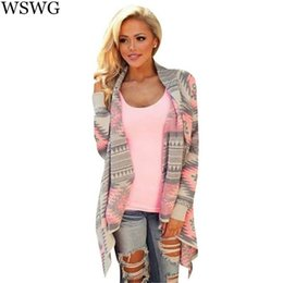 Wholesale Sexy Long Sleeve Outwear - Wholesale- Loose Sexy Cardigan Women Plus Size Fall Oversized Cardigan Fashion 2017 Autumn Clothing Winter Shrug Sweater Outwear 60248