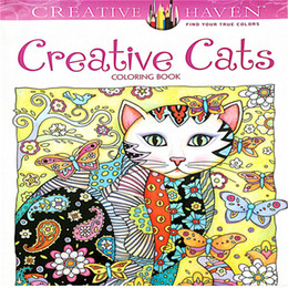 2017 New Arrival Creative Cats Coloring Books Adult Children Gifts Secret Garden Series Painting Drawing Book Colouring