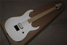 Wholesale Guitar Electric V - free shipping Top quality New Arrival 7 v White Electric Guitar reversed headstock one Pickup 1117