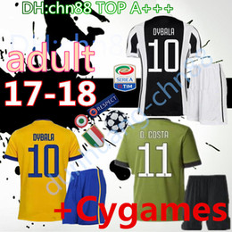 Wholesale Champions Football - 17 18 men home 3rd kits soccer Jersey best quality 2017 2018 MARCHISIO DYBALA HIGUAIN DANI PJANIC Champion & Serie A Patch Football Shirts