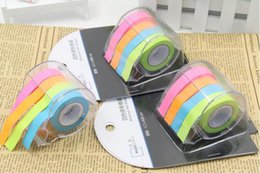 Wholesale Design Paper Pads - Wholesale- Fashion Design Sweet Cute color paper tape Tricolor Memo Pad Sticky Note Kawaii Paper Tear Scratchpad Sticker 01835