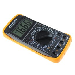 Wholesale Display Digital Panel Ammeter - Wholesale- AC   DC LCD Display Auto Professional Electric Handheld Panel Tester Digital Multimeter Meter Ammeter Monitor COMS Dec28