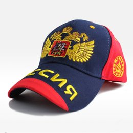 Wholesale Russian Embroidery - high quality Cotton Russian Baseball Cap Emblem Embroidery Snapback Fashion Sports Hats Unisex Men & Women Patriot Cap