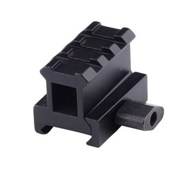 Wholesale Riser For Picatinny Rail - Hunting accessories Short Side Rail Base for Airsoft Riser Rifle Scope mount with 3 Slot for 20mm Weaver Picatinny