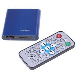 Wholesale Sd Media Player - Wholesale- Mini 1080P UISB SD MMC HD HDMI A V Port TV Audio Multi Media Player-MKV RM RMVB SD USB HDD players