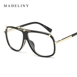 Wholesale Top Brand Eyeglasses Wholesale - Wholesale- MADELINY New Fashion Women Glasses Vintage Eyeglass Frame Brand Design Men Top Quality Glasses Clear Lens Vintage UV400 MA014