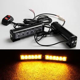 Luces de advertencia de luz estroboscópica automática online-DHL 2x6LED Car Police Strobe Flash Modalidades de luz Luz de advertencia automática 36W Lámpara de precaución de alta potencia