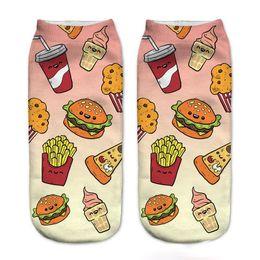 Wholesale Cute Adult Socks - Fashion 3D Cartoon Adult kid girls Socks Cotton Big Kids Sock Cute ankle sock Fashion Casual Children Socksing Ice cream Socks