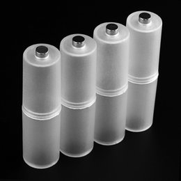 Wholesale Aa Cell Holder - Powerlion 4pcs AAA to AA Size Cell Battery Converter Adaptor Holder Case Switcher Battery Box for 4 x AAA Battery LEF_30H