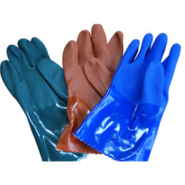 Wholesale Latex Work Gloves Wholesale - Multicolor Gloves Rubber Garden Mittens Waterproof latex insulated rubber grade Work Gloves Hands safety Working Protection Industrial