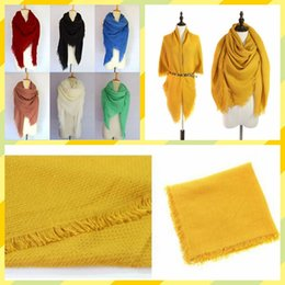 Wholesale Oversized Accessories - Tassels Scarves Women Fringed Scarf Fashion Neckchief Winter Muffler Tassel Shawl Cozy Oversized Pashmina Accessories Autumn Blankets YYA538