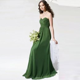 Wholesale Jade Silver Wedding Dresses - 2017 Elegant Long Jade Green Bridesmaids Dresses Sweetheart Strapless Pleated Chiffon Cheap Wedding Party Dress Gowns BN142