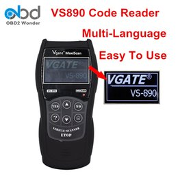 Wholesale Best Audi Diagnostic - Wholesale- Best Price Vgate VS-890 Auto Diagnostic Scanner MaxiScan VS890 OBDII Code Reader Support OBDII CAN SAE Protocol Multi-Language