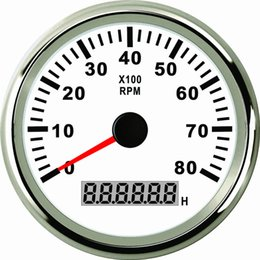 Wholesale Rpm For Car - Universal 85mm Tachometer RPM Gauge With Hour Meter 0-8000RPM For Car Truck Boat Yacht With Backlight