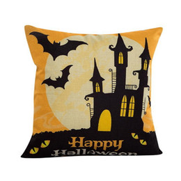 Wholesale Happy Hotels - Halloween Bat Decoration Pillowcase Pillow Case Sofa Decorative Home Decor Square Cushion Cover Throw Ornament Gift Bed Car Room Happy