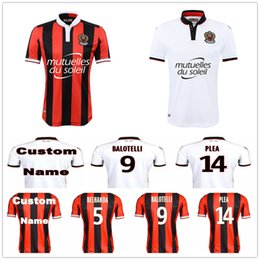 Wholesale Football Jersey Numbering - OGC Nice Soccer Jersey BALOTELLI BELHANDA PLEA WALTER Payet Ocampos Lass Blank Customize Any Name Number Football Shirt Kit Uniform