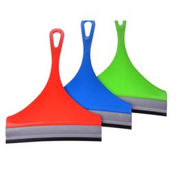 Wholesale Wiper Squeegee - Wholesale- Vehicle Glass Window Wiper Soap Cleaner Squeegee Shower Bathroom Mirror Car Blade Brush Random Color