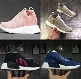 Wholesale Men Low Top Flats Shoes - 2017 NMD City Sock 2 Primeknit Shock Pink Pack mid-top casual sneaker Primeknit Shoes For Men And Women Training Sneaker,Popular Casual Boos