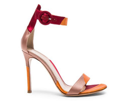 Wholesale Ladies Cute Sandals - 2017 spring and summer new arrival princess sweet lady cute butterfly small high-heeled leather women sandals mixed color fashion tide