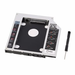 Wholesale Computer Hard Drives Wholesale - Wholesale- New Hard Drive Caddy Serial ATA Hard Drive Disk HDD SSD Adapter Caddy Tray for PC Laptop Computer