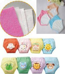 Wholesale Potties For Babies - SL-58 8pcs lot Waterproof Potty Training Pants for Baby Briefs Cotton Panties Infant Diaper Pant