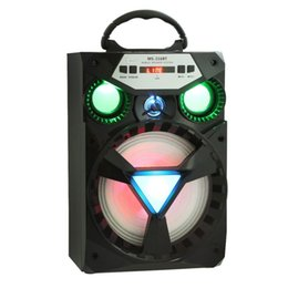 Wholesale Portable Units - Eonec MS - 216BT Multi-functional Portable Bluetooth V2.0 Speaker Big Drive Unit Bass LED Colorful Backlight FM Radio for iPhone