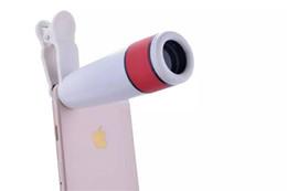 Wholesale Alcatel Mobiles Phones - Wholesale- Universal Clip 12X Zoom Telescope Mobile Phone Lens Telephoto Len For Alcatel Flash,One Touch Pop Astro,Idol X+ 6043D,Flash Plus