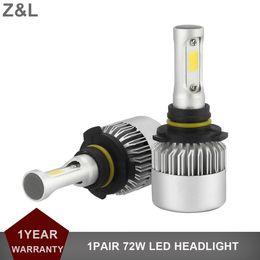 Wholesale Replacement Auto Lights - 1Pair Plug&Play Car LED Headlight H4 H7 H11 9005 9006 COB 72W 8000LM Auto Fog Lamp 12V 24V Replacement Head light Headlamp Kit