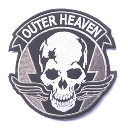 Wholesale Outer Clothing - US outer heaven Badge GRIM REAPERS CANCELED Embroidery Badges Fabric Morale Patches For Clothing Appliques Decorative Patches