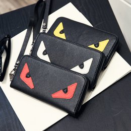 Wholesale most cards - Little monster accordion wallet in genuine stingray leather Most popular cute monster purse