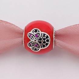 Wholesale Mouse Love - 925 Sterling Silver Beads I Love Miny Mouse Charm Charms Fits European Pandora Style Jewelry Bracelets & Necklace handmade 7501055891087P