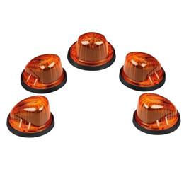 luz de advertência do tejadilho Desconto 5 pcs Telhado Cab marcador Light Âmbar Lente / Tampa + 5xBlack Base para 73-87 Chevy K10 / 20/30