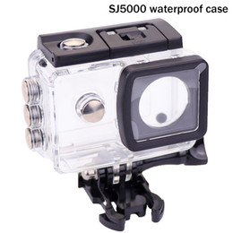 Wholesale- Original SJCAM SJ5000 waterproof case with mount adapter + sj5000 len cover + case cover for sj 5000 wifi camera accessories Coupons