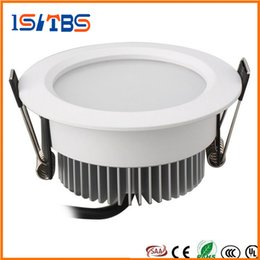 Wholesale Led Down Lights White Shell - Silver White Shell Led Down Lights 9W 12W 15W 18W Dimmable Led Downlights Recessed Ceiling Light 110-240V + CE UL SAA