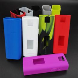 Wholesale Cigarettes Box Cover - Colorful E Cig Silicone Case for Joyetech Cuboid Mini 80W Box Mod Ecig Protective Rubber Sleeve Cover Case Bag Skin E cigarette Accessories