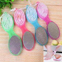 Wholesale Dry Cleaning Brush - 4in1 Clean Feet Brush Foot Pedicure Feet Rasp Brush Nail Clippers Feet Care Dry Smooth Skin Pumice Stone Board Remove dead skin WX-T10